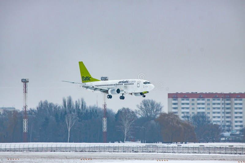 AirBaltic波音737 图库摄影