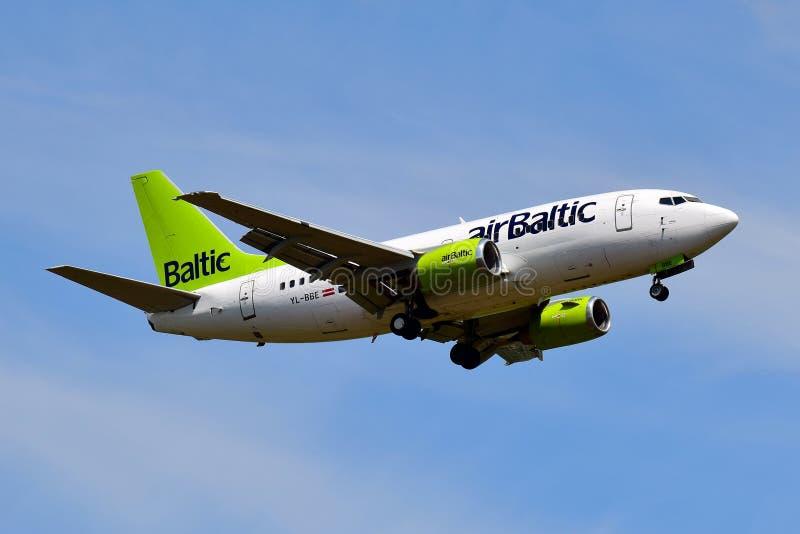 AirBaltic??737 图库摄影