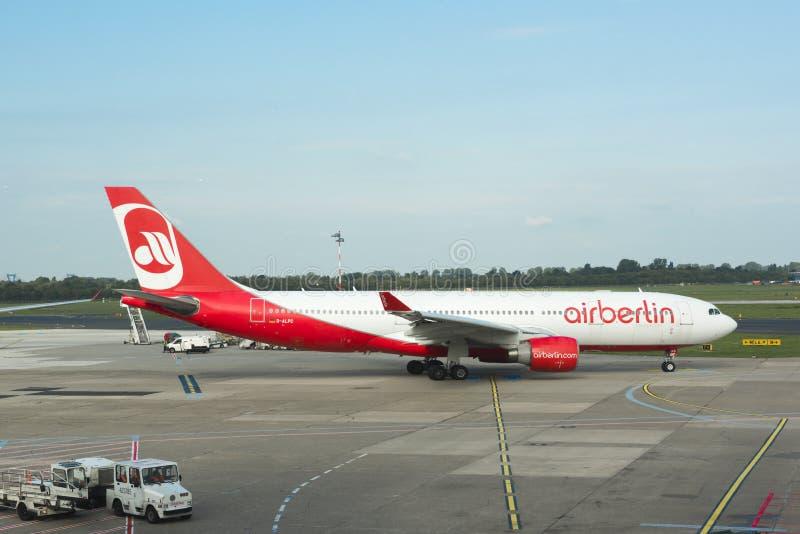 Airberlin samolot zdjęcia stock