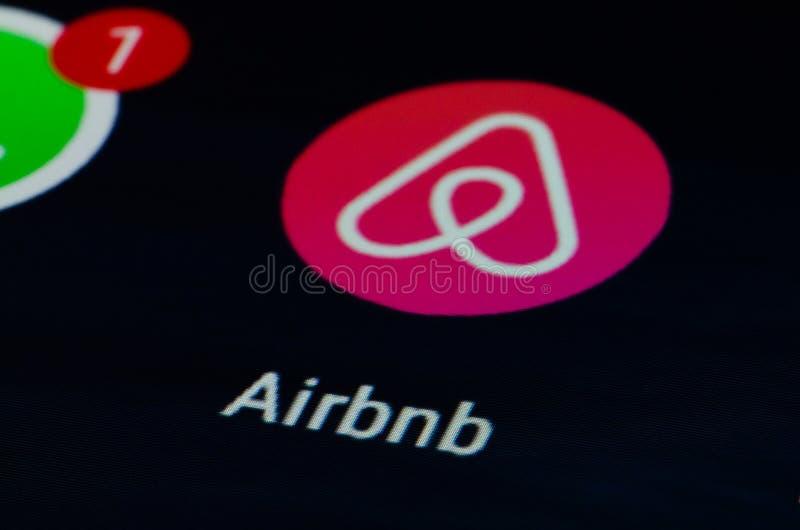 Airbnb app 库存图片