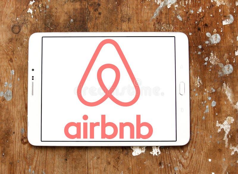 Airbnb logo fotografia stock