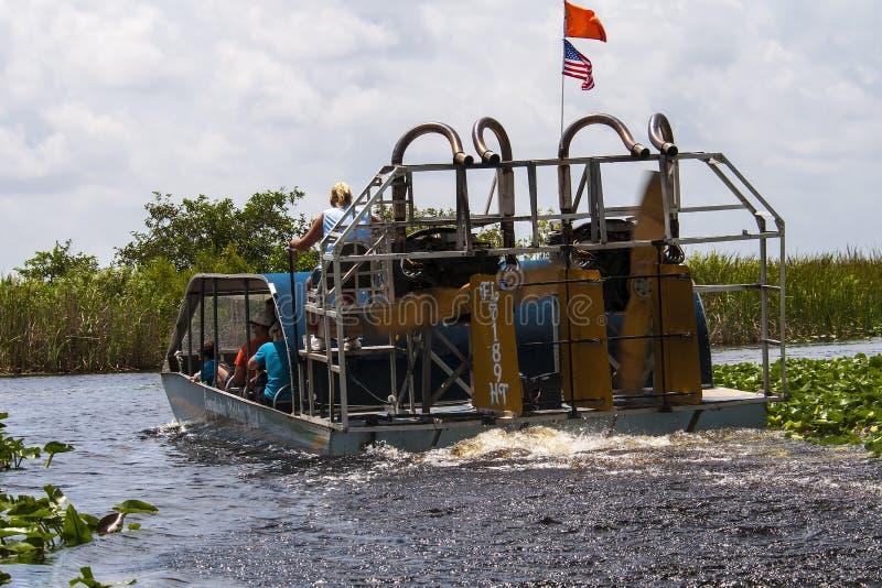 Airboat болотистых низменностей Флориды стоковые изображения
