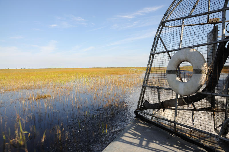 Airboat in Everglades royalty-vrije stock foto