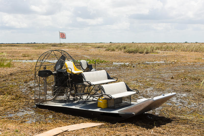 Airboat, Everglades stock foto