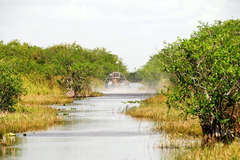 Airboat in Florida lizenzfreies stockfoto