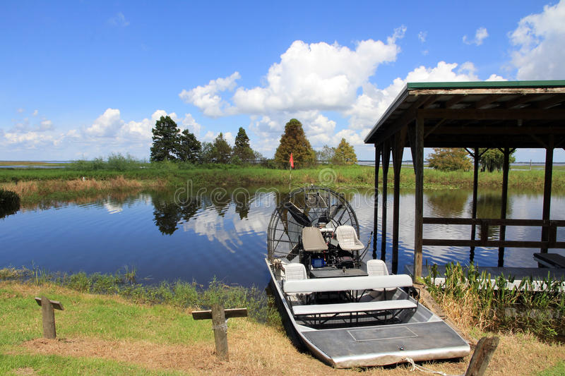 The airboat stock photography