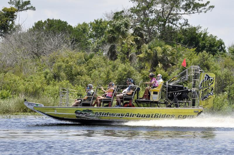 Airboat Ride Tour Of St John River In Florida, USA Editorial