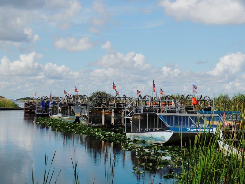 Airboats болотистых низменностей Флориды стоковые фото