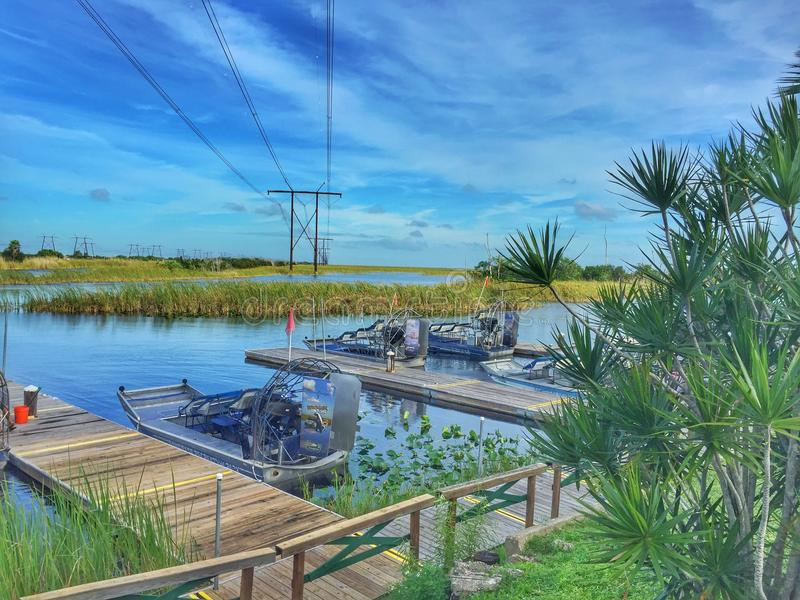 Airboats image stock