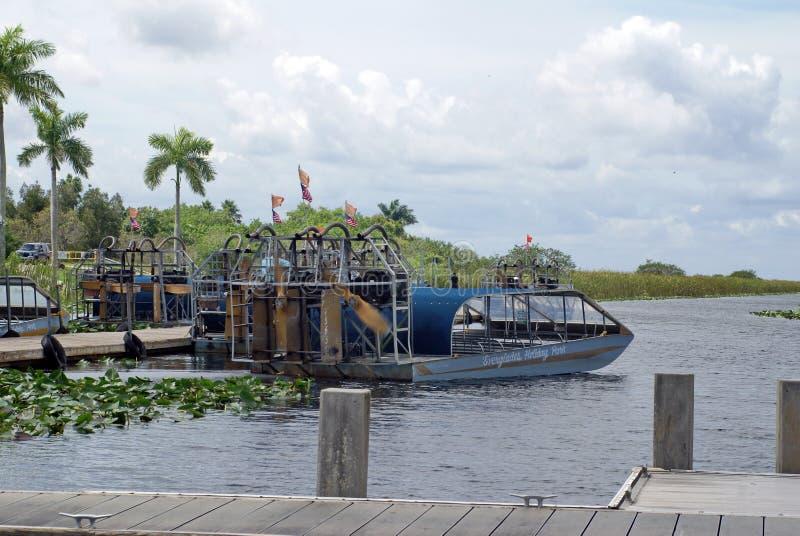 Airboats im Everglades-Nationalpark, Florida, USA lizenzfreie stockfotografie