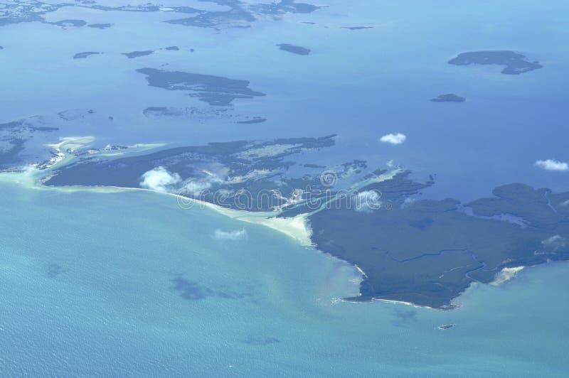 Airborne island view royalty free stock photos
