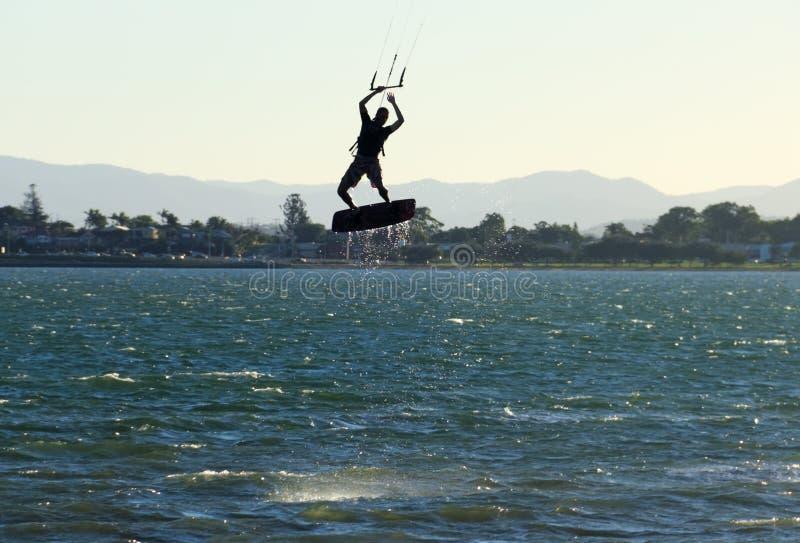 Airborne Kite Surfer Stock Photos