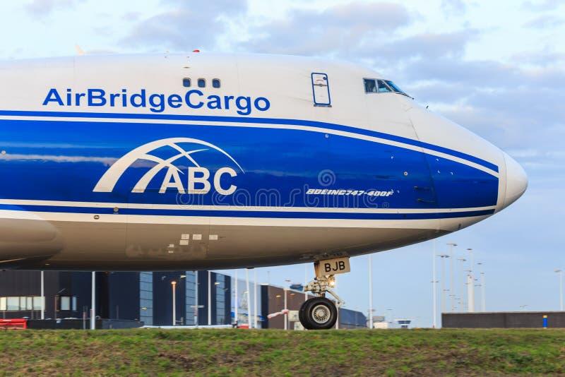 AirBridgeCargo 747 zdjęcia royalty free