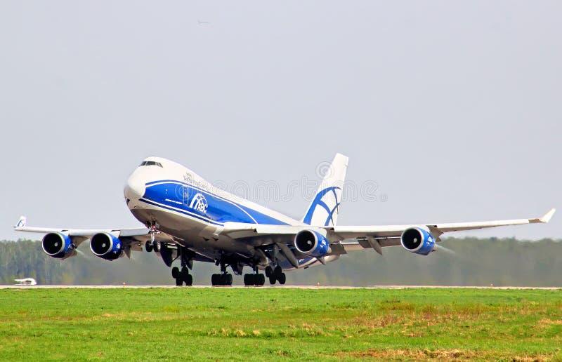 AirBridgeCargo Boeing 747 zdjęcie stock