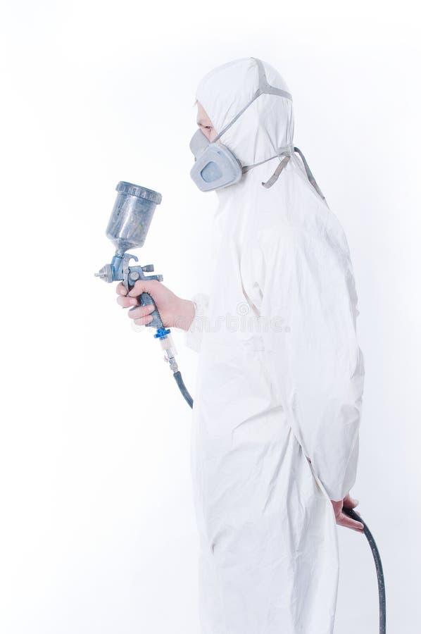 airbrush gun worker στοκ φωτογραφία