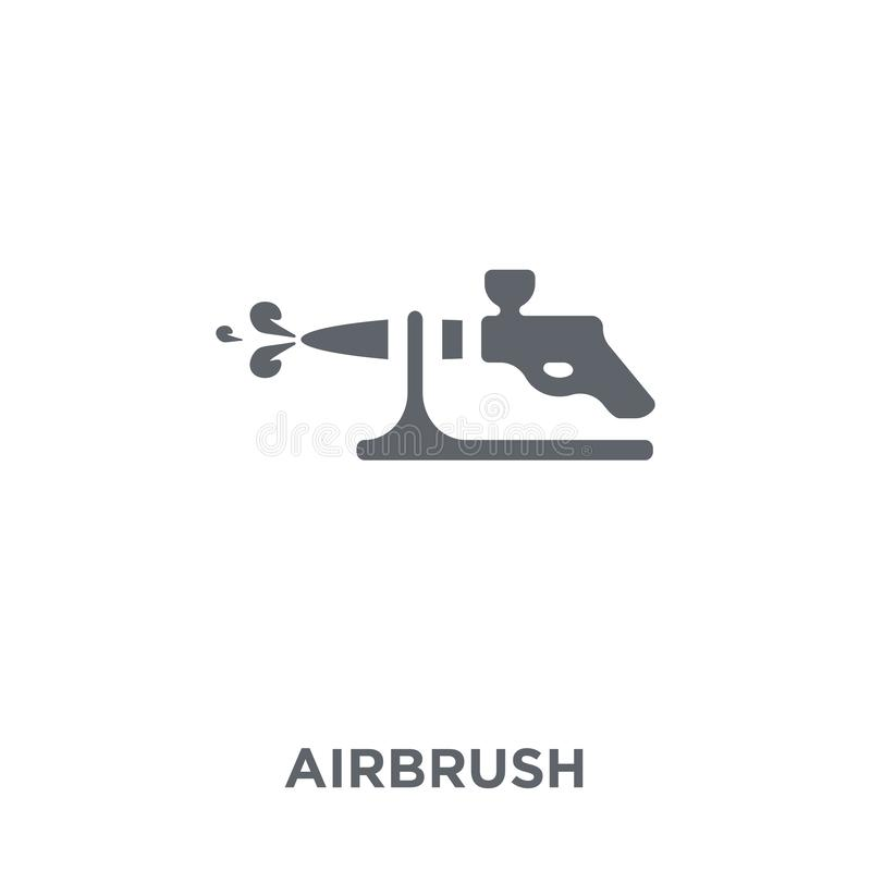 Airbrush icon from collection. Airbrush icon. Airbrush design concept from collection. Simple element vector illustration on white background royalty free illustration