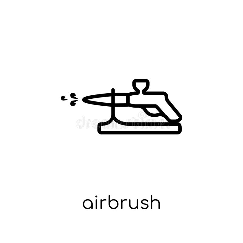 Airbrush icon from collection. Airbrush icon. Trendy modern flat linear vector airbrush icon on white background from thin line collection, outline vector vector illustration