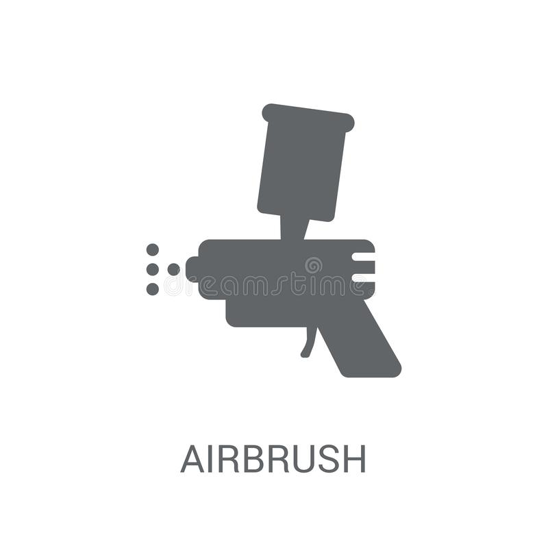 Airbrush icon. Trendy Airbrush logo concept on white background. From Museum collection. Suitable for use on web apps, mobile apps and print media royalty free illustration