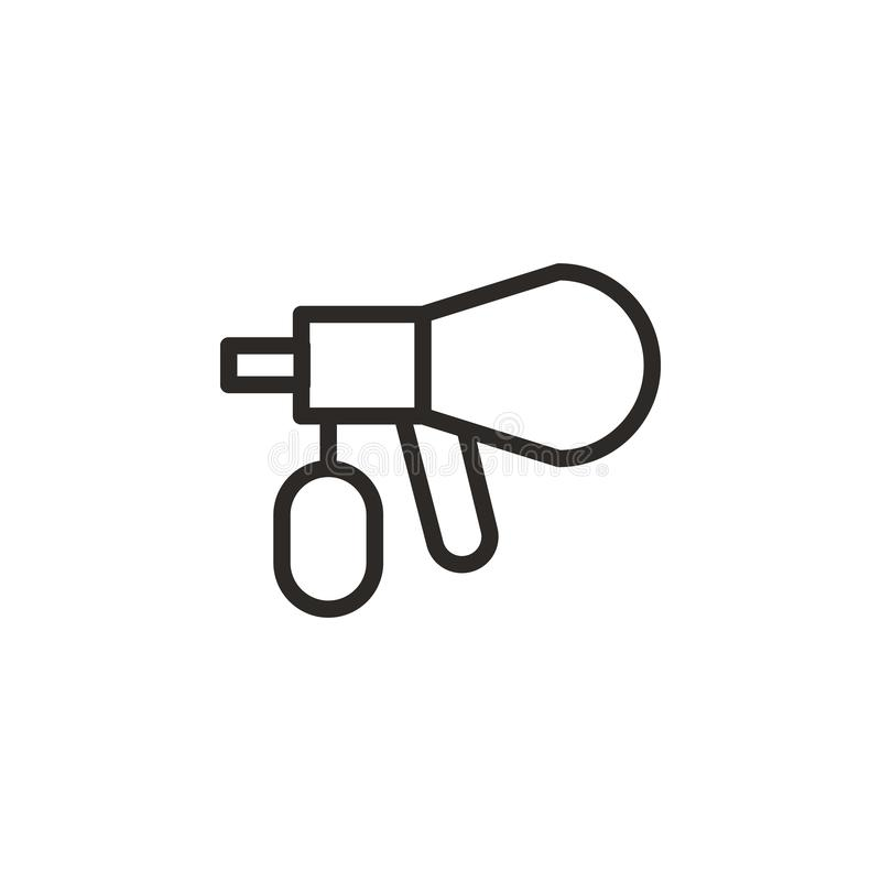 Airbrush, repair  icon. Element of design tool for mobile concept and web apps . Thin line icon for website design and. Development, app development. Vector royalty free illustration