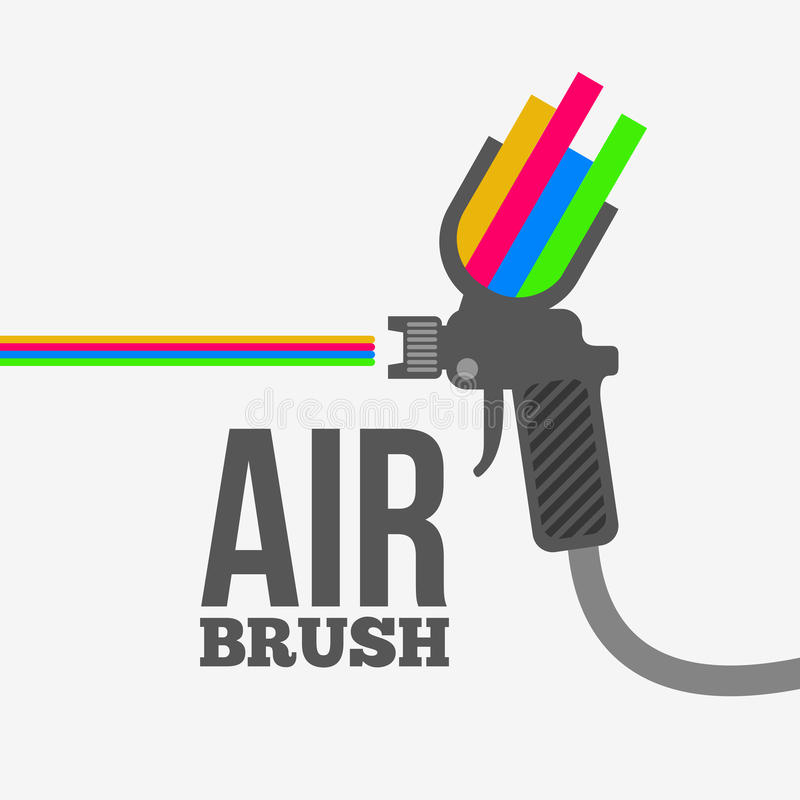 Airbrush. Or spray gun vector royalty free illustration