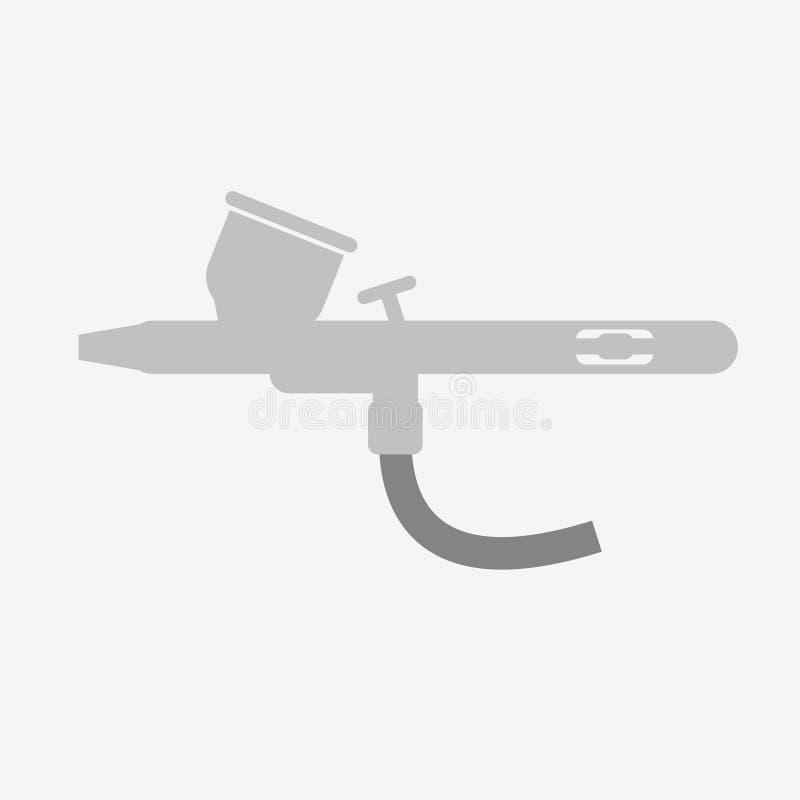Airbrush. Or spray gun vector vector illustration