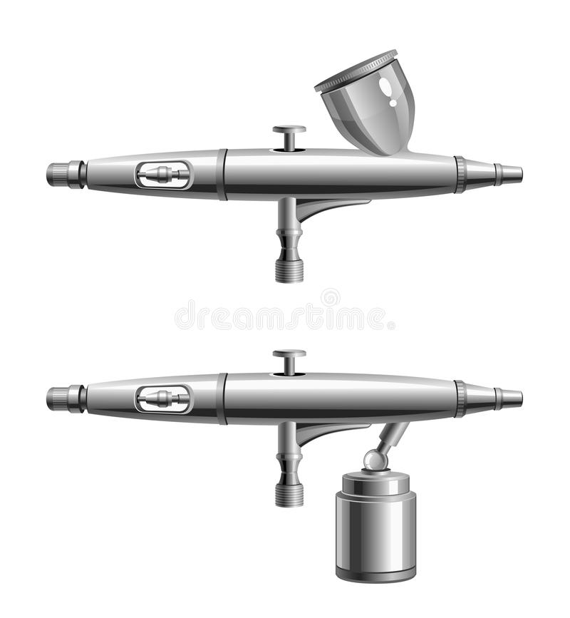 Airbrush. On a white background vector illustration