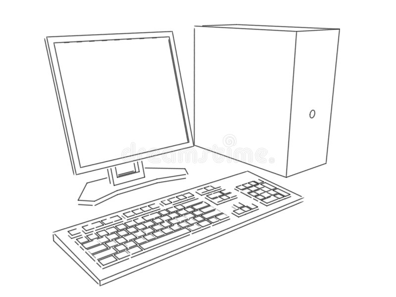 airbrushdatorplan arkivbild