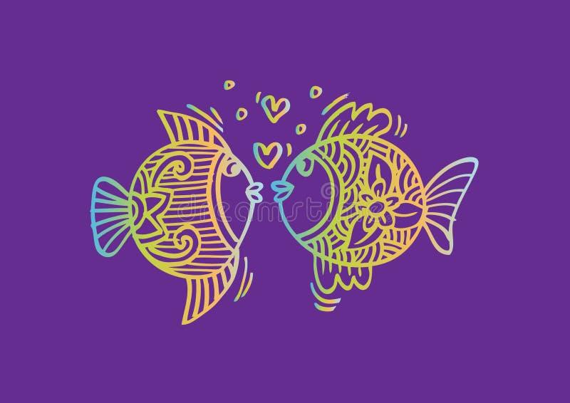 airbubbles鱼做一二的牡鹿爱 皇族释放例证