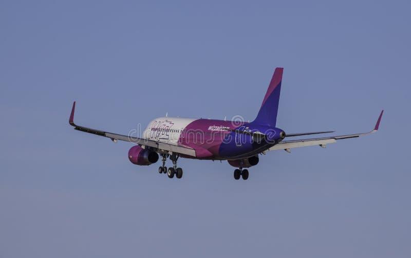 Airbus A320-232 - αέρας Wizz στοκ εικόνα με δικαίωμα ελεύθερης χρήσης
