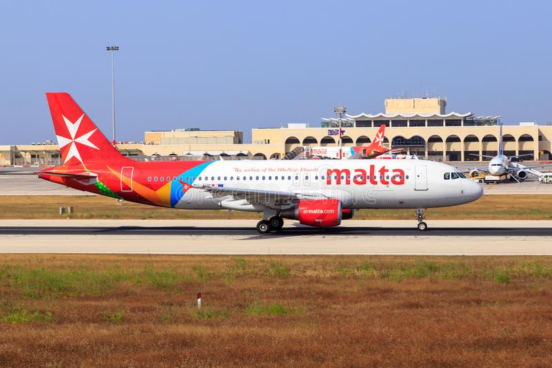 Airbus της Μάλτας αέρα A320 στοκ εικόνα με δικαίωμα ελεύθερης χρήσης