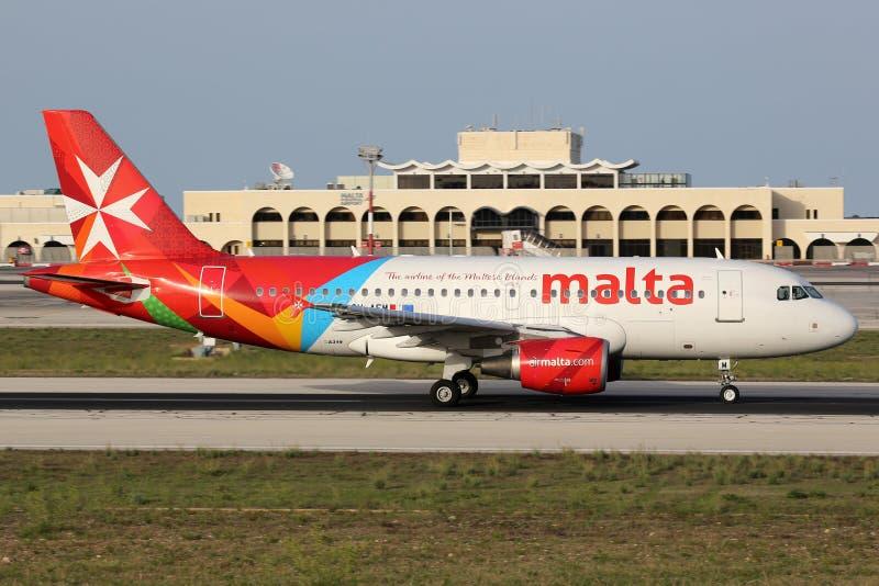 Airbus της Μάλτας αέρα A319 στοκ εικόνα