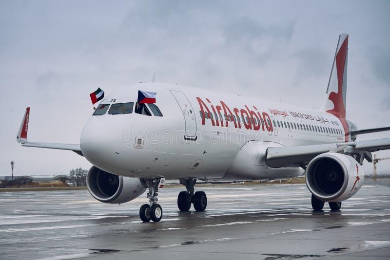 Airbus A320 του αέρα Αραβία στοκ φωτογραφία με δικαίωμα ελεύθερης χρήσης