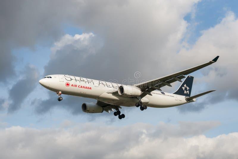 Airbus του Air Canada A321 στοκ φωτογραφία με δικαίωμα ελεύθερης χρήσης