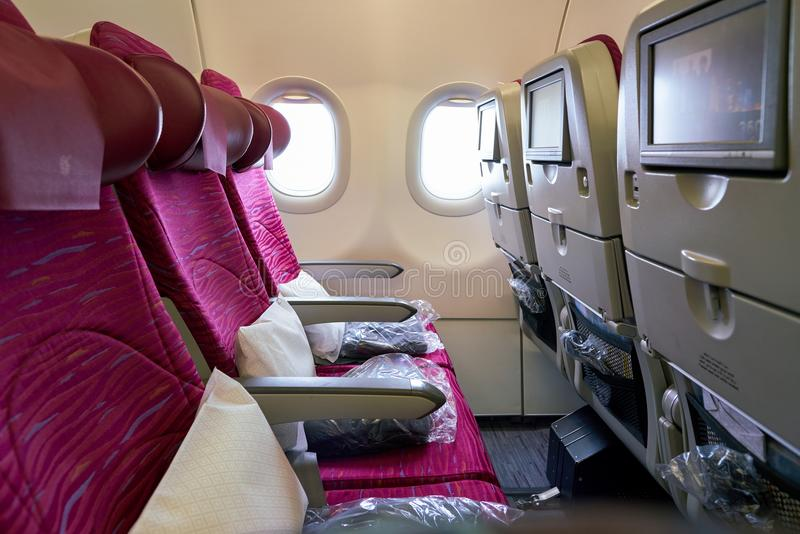 Airbus a321 image stock image du classe v hicule avion for Interieur qatar airways