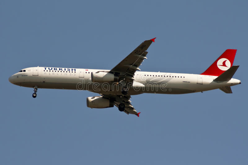 Airbus A-330 of Turkish Airlines stock images