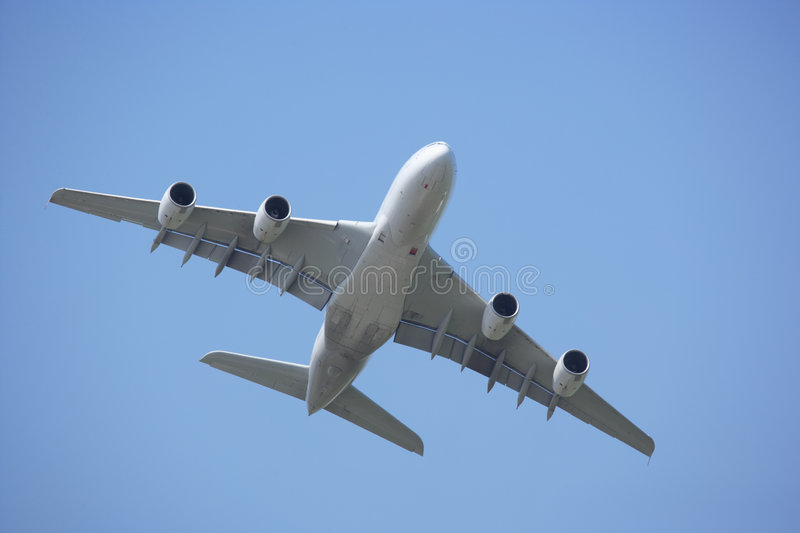 Airbus A 380 Stock Photo