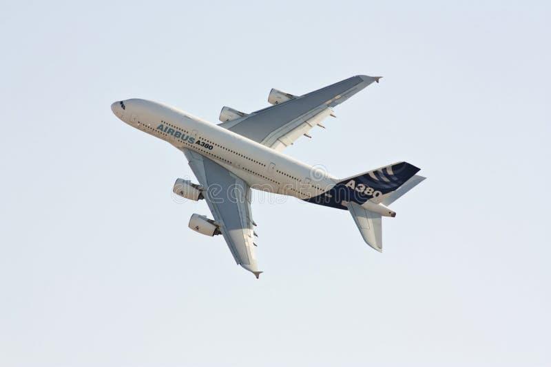 Airbus 380 imagem de stock royalty free