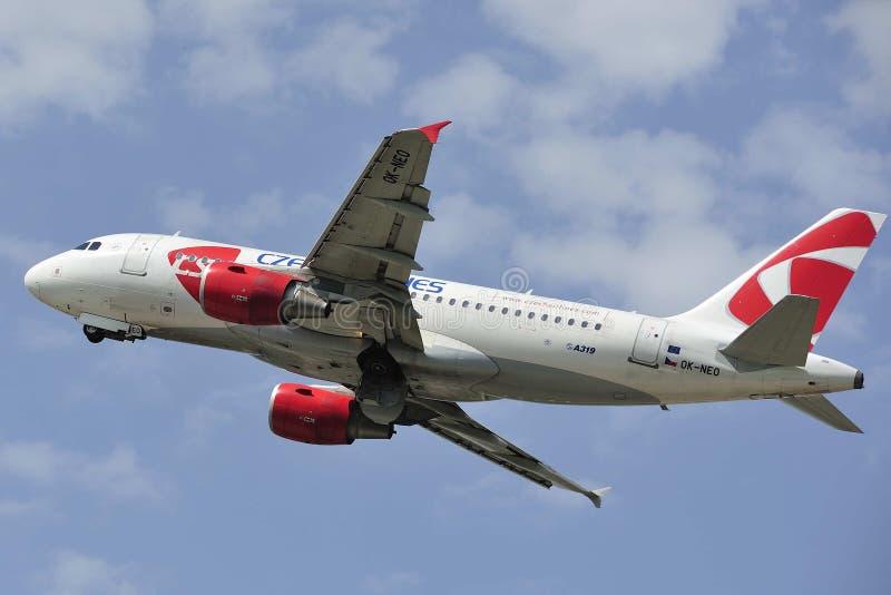 Airbus A319-112 στοκ φωτογραφίες