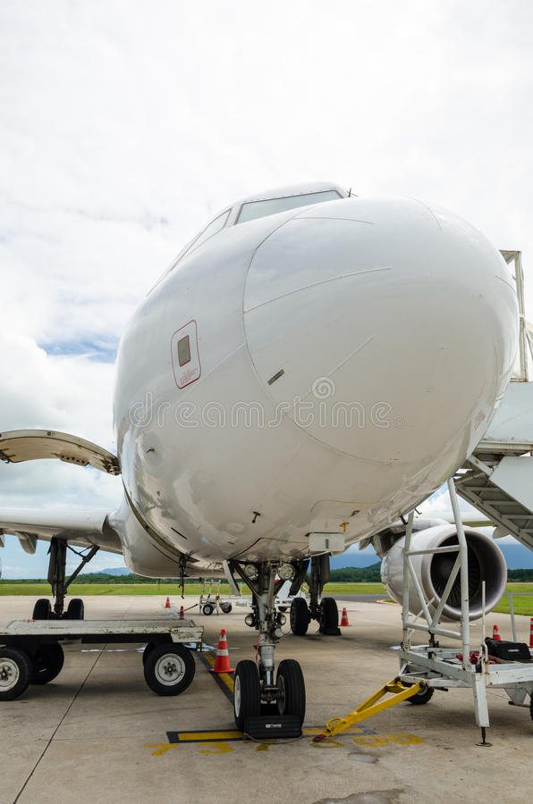 Airbus A320 loanding foto de archivo