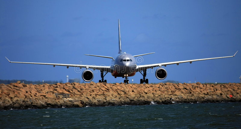 Airbus A330 front view stock photos