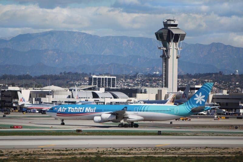 Airbus A340-313X της Ταϊτή Nui αέρα στοκ εικόνες με δικαίωμα ελεύθερης χρήσης