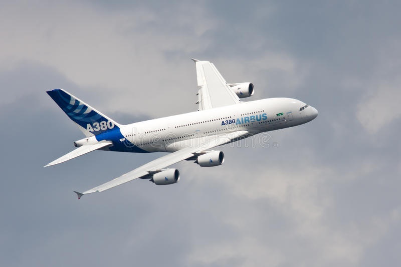 Airbus A380 royalty free stock image