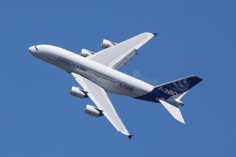 Download Airbus A380 editorial stock photo. Image of transportation - 20085348