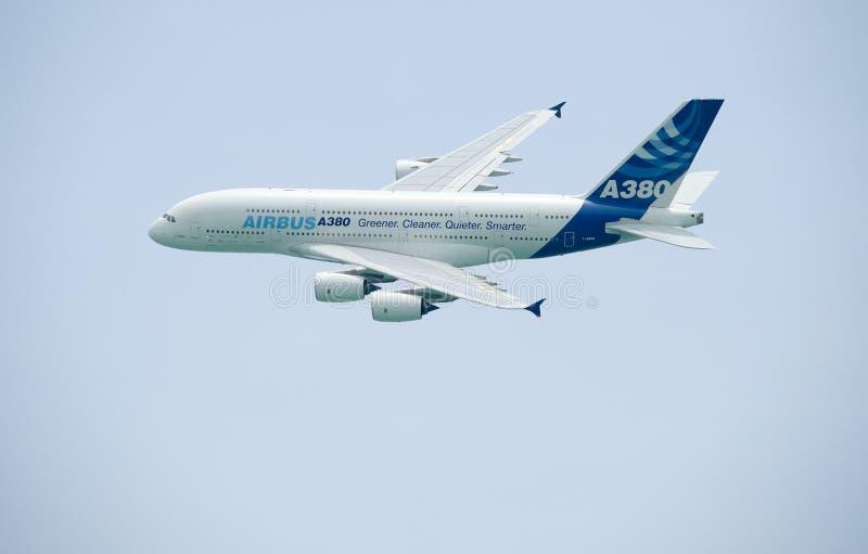 Airbus A380 stockfotos