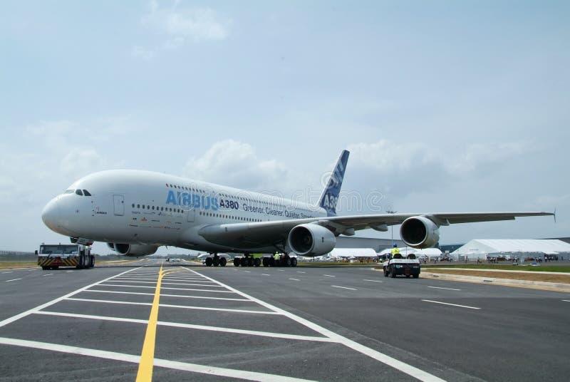 Airbus A380 imagen de archivo libre de regalías