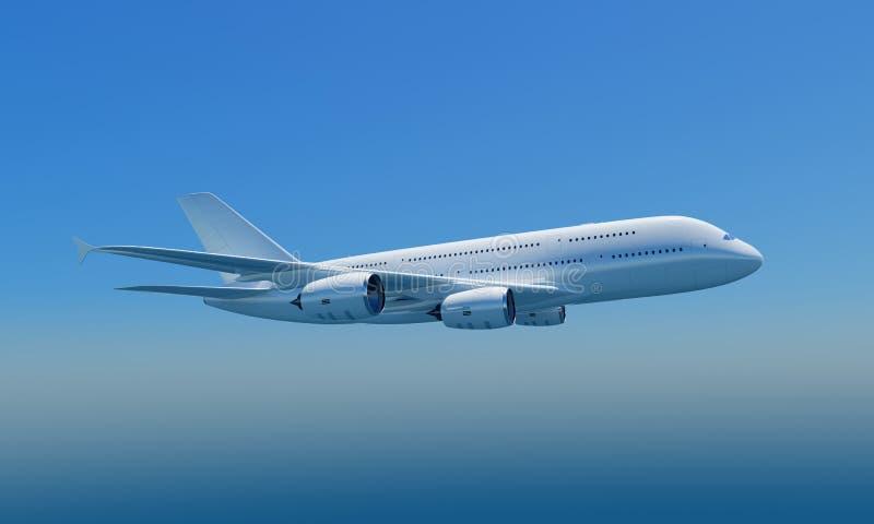 Airbus A380 con el camino de recortes libre illustration