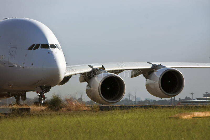 Download Airbus A380 Jet Airliner On Runway Stock Image - Image: 24210903