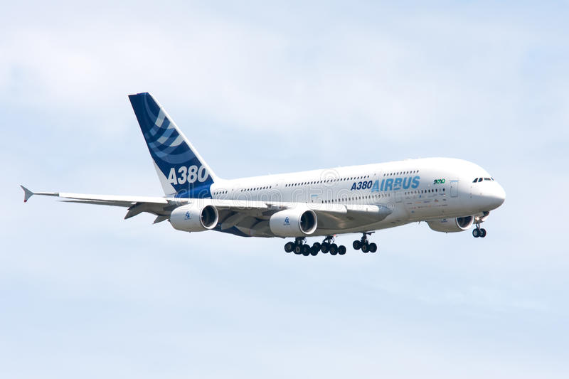 Airbus A380 Landing Editorial Photo