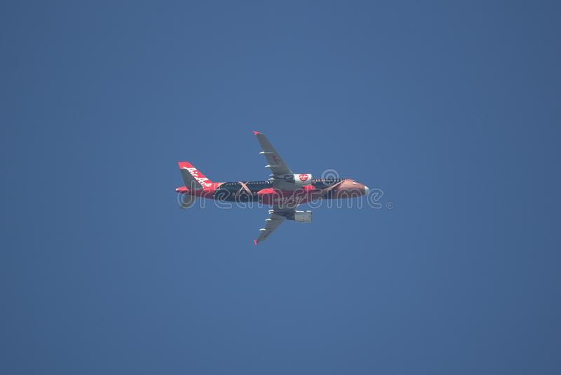 Airbus A320-200 of Airasia royalty free stock photo
