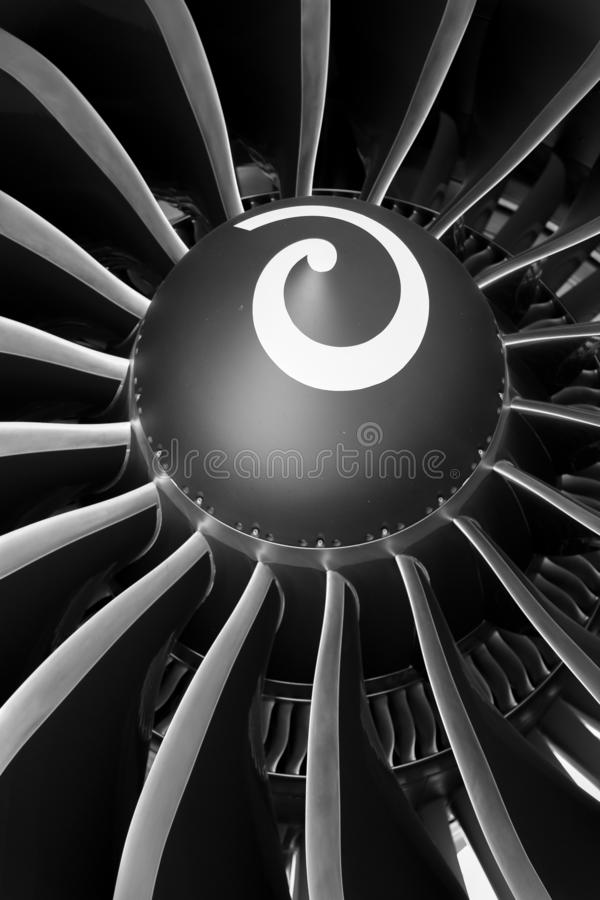 Airbus A-350 Aircraft Jet Engine royalty free stock photos
